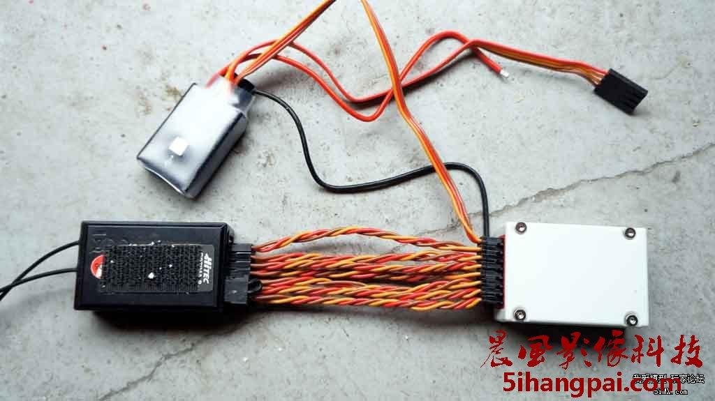 图解naza与各种接收机的线路连接