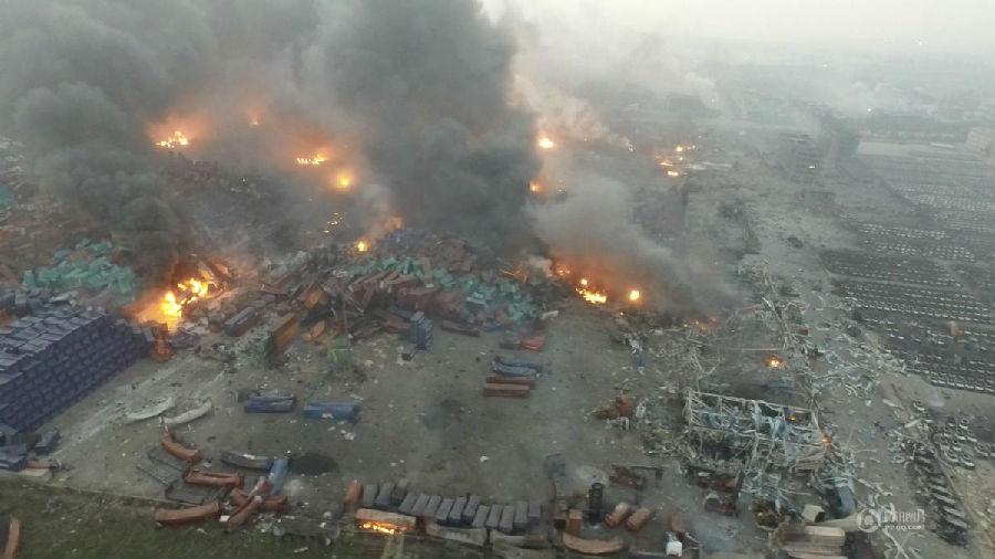 天津滨海812大爆炸航拍现场图